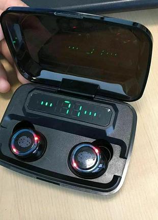 Беспроводные Bluetooth 5.0 наушники M11 TWS чёрного цвета с заряд