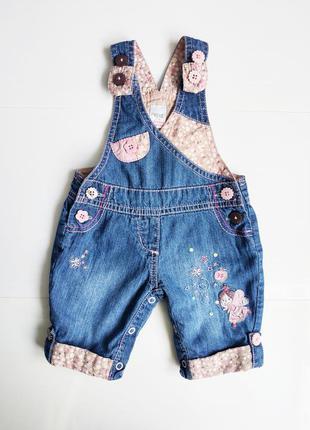 Детский джинсовый комбинезон next