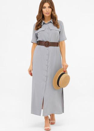 Длинное платье-рубашка мелиса s m, l, xl