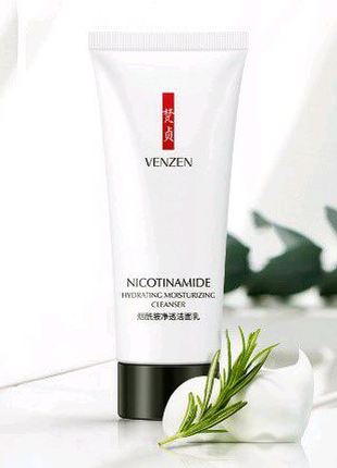 Молочко для вмивання з нікотинамідом venzen nicotinamide hydratin