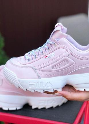 Женские кроссовки fila disruptor 2 розовые фила
