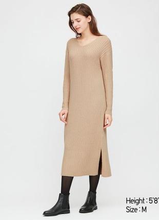 Трикотажное платье Uniqlo, размер L