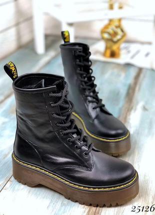 ❤ женские черные кожаные осенние демисезонные ботинки ботильон...
