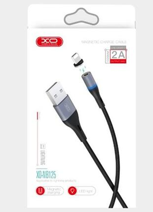 Магнитный кабель usb   юсб XO micro USB Magnetic (NB125)