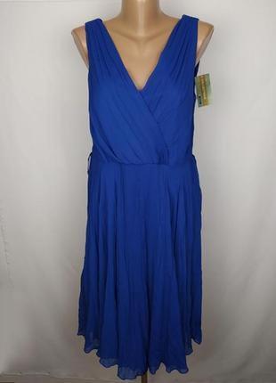 Платье новое синие стильное на подкладке george uk 14/42/l
