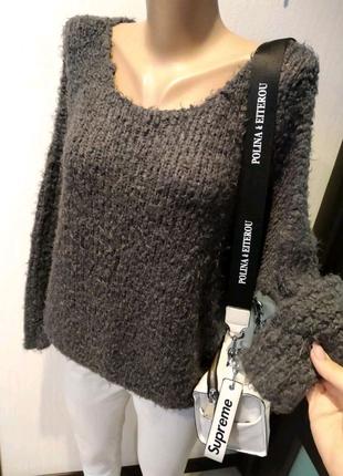 Отличный буклированный джемпер свитер кофта пуловер