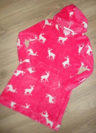 Теплое уютное домашнее платье на 11-12лет
