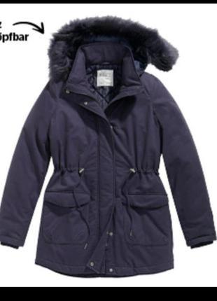 Зимняя куртка парка parka тёмно-синяя германия