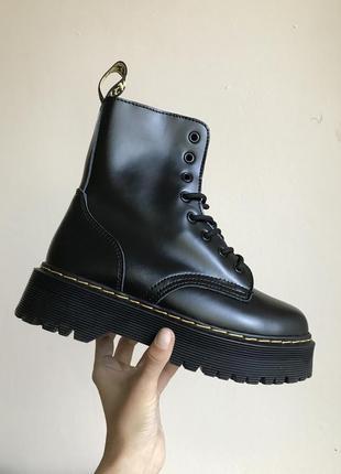 Женские зимние ботинки с мехом dr martens jadon