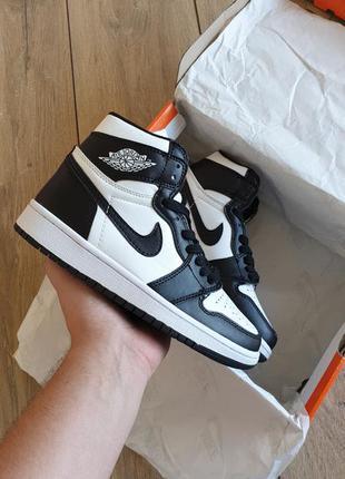 Nike air jordan 1 retro high black/white
