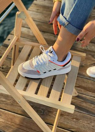 Кроссовки adidas drop step white