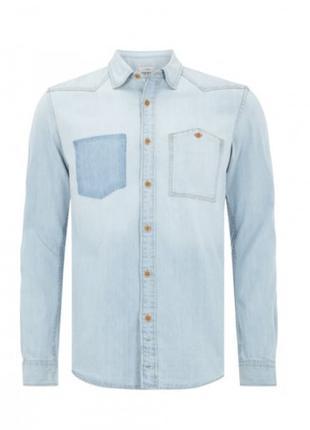 Джинсовая рубашка Tom Tailor Denim 2029205.09.12 голубая M