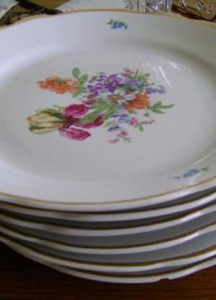 """Дулевский фарфор-столовый набор фарфоровой посуды""""Букет"""" из 25"""