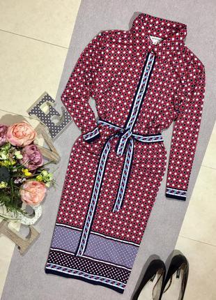 Брендовое красивое платье -рубашка в геометрический принт.