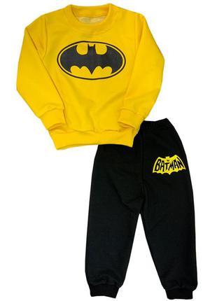 Детский костюм для мальчиков бэтмен двунить