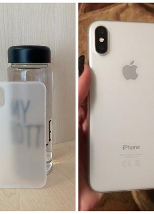 Полупрозрачный ультратонкий чехол 0.3мм на Iphone X и XS др.цвета