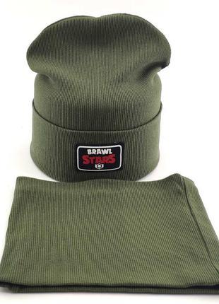 Комплект шапка-хомут