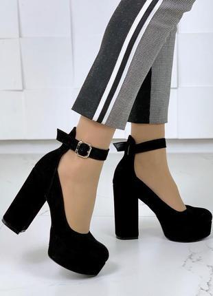 Шикарные замшевые туфли на каблуке,туфли из натуральной замши ...