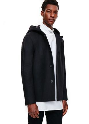 COS пальто шерстяное кашемировое куртка 76% шерсть 4% кашемир