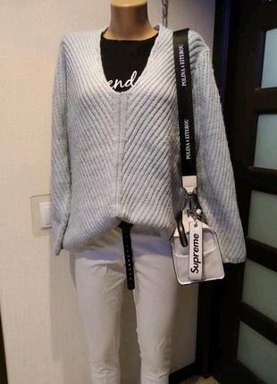 Мягусенький теплый джемпер свитер кофта пуловер