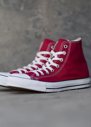 Кеды converse all star hi red