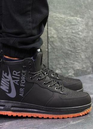 Кроссовки nike air force (черные)