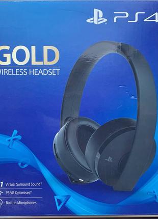 Гарнитура Sony PS4 Wireless Headset Gold (Black)