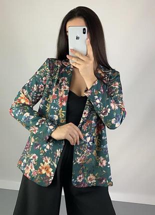 Пиджак блейзер цветочный принт vila