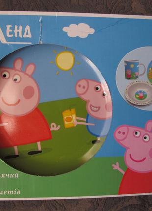 Набор посуды Свинка Пеппа Peppa pig 3 предмета керамика