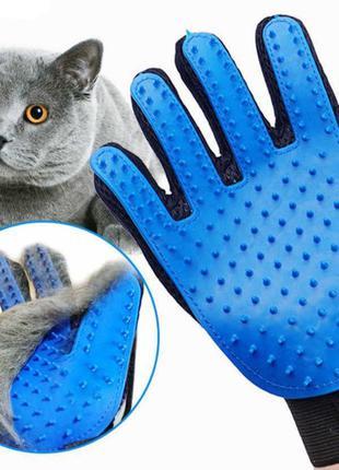 Отличная перчатка для вычесывания шерсти домашних животных Tru...