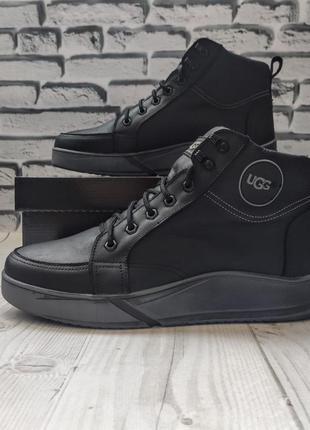 Мужские стильные ботинки ugg🔥натуральная кожа зима