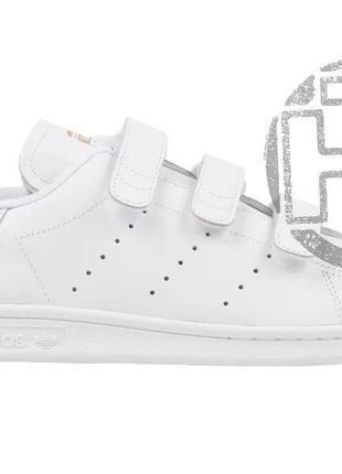Женские кроссовки adidas stan smith strap cf white gold s75188