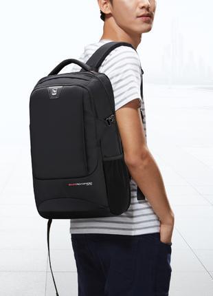 31 л чорний рюкзак наплічник бізнес місто школа студент походи oi