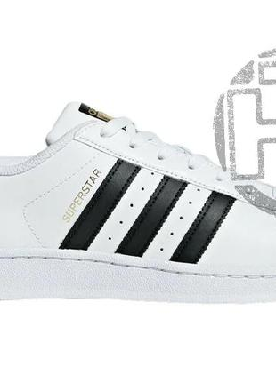 Женские кроссовки adidas superstar white black c77153