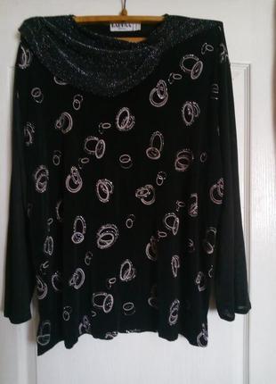 Черная блузка,длинный рукав
