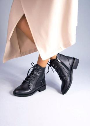 Кожаные женские ботинки натуральная кожа