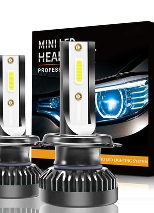Светодиодная LED Лампа Mini 1 год Гарантии H1,H4,H7,H11,HB3,HB4