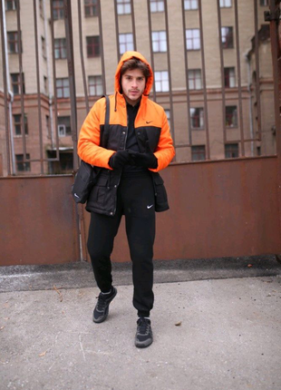 Зимняя мужская парка Найк (Nike) + утепленные штаны. Барсетка Nik