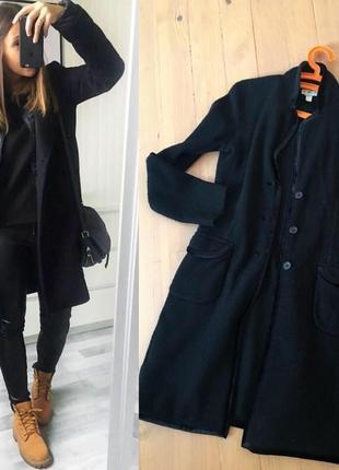 Базове шерстяне пальто кардиган