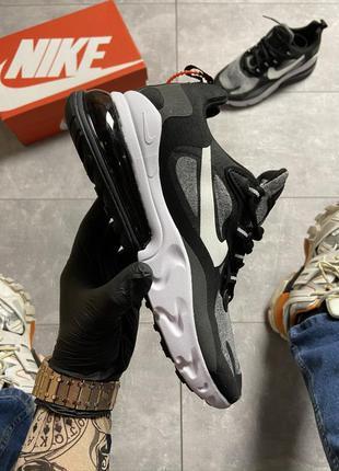 Крутые кроссовки унисекс nike air max 270 react gray/black