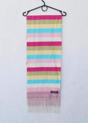 Теплый кашемировый шарф в полоску 🌿