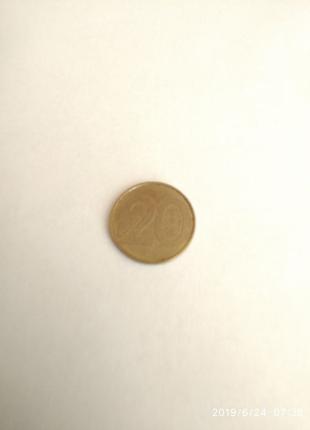 Монета 20 копеек 2009 Беларусь
