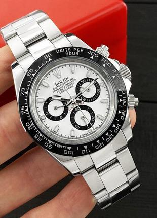 Годиник Rolex Cosmograph Daytona AAA Silver-Black-White 1020-0418