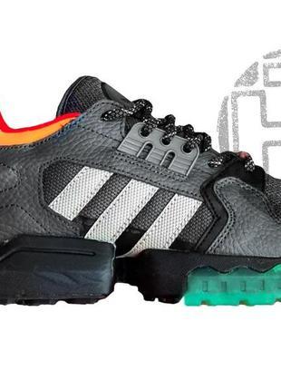 Мужские кроссовки adidas zx torsion grey orange black ee5554