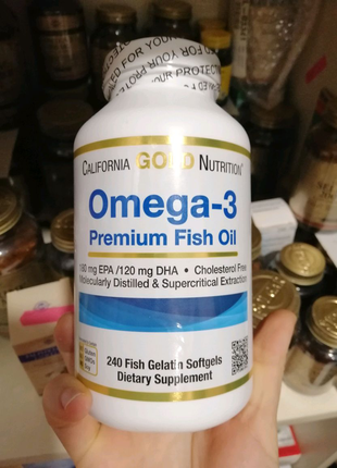 California Gold Nutrition Omega 3 Омега-3 240 капс