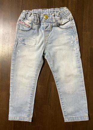 Zara baby голубые джинсы для девочки 18-24