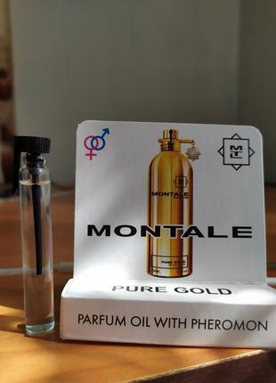 Мини парфюм с феромонами montale pure gold ( монталь пур голд)...