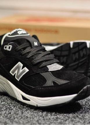 New Balance 991 Suede Black White