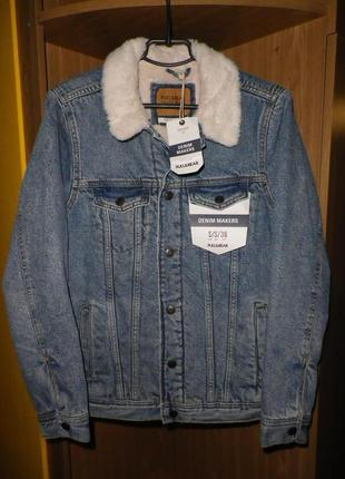 Куртка джинсовая PULL & BEAR (sherpa) S
