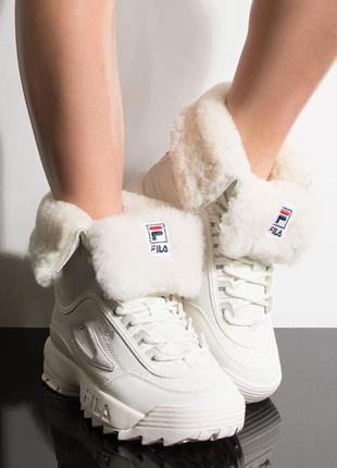 Зимние сапоги, ботинки, кроссовки fila disruptor, оригинал